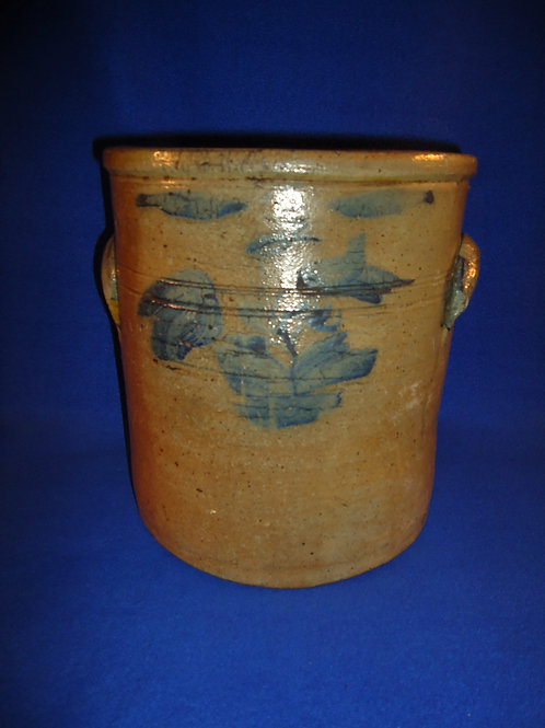 Circa 1880 3 Gallon Stoneware Crock with Tulips, Midwest, #4897