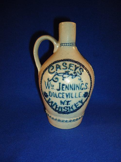 Casey's Whiskey, Dolgeville, New York Stoneware Jug by Whites Pottery of Utica