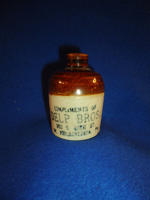 Delp Brothers, West Philadelphia, Pennsylvania Stoneware Mini Jug