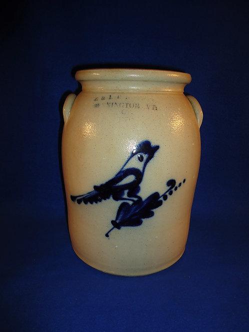E. & L. P. Norton, Bennington, Vermont Stoneware 2g Jar w/ Bird on Branch #5010