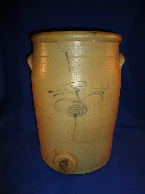 Circa 1880 6 Gallon Midwestern Stoneware Water Cooler with Bumblebee