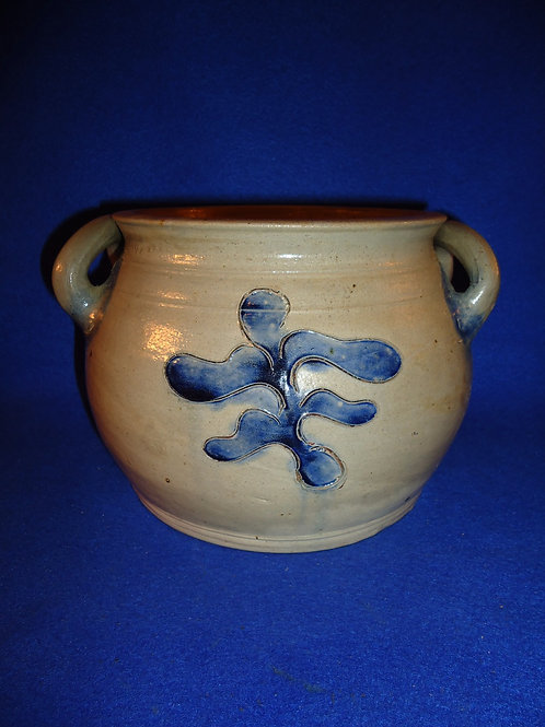 Extremely Rare Circa 1800 Stoneware Low Jar, New York City