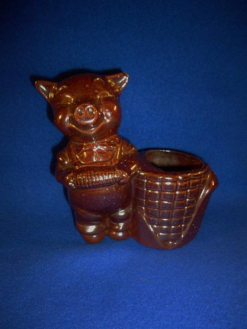 """Pig Eating Corn Sewer Tile Match Safe by """"Gonda"""""""