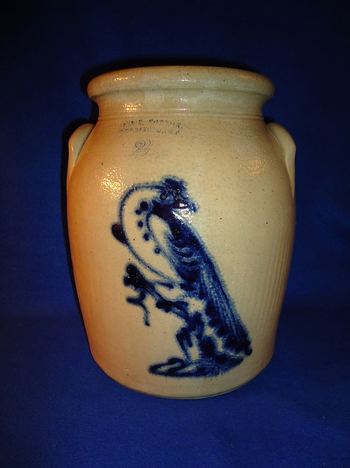 J. & E. Norton, Bennington, Vermont 2g Jar with Pheasant on a Stump
