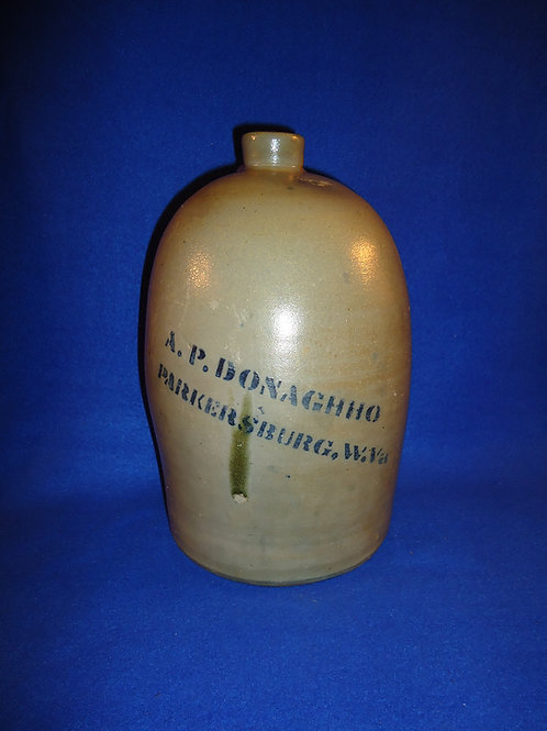 A. P. Donaghho, Parkersburg, West Virginia Stoneware 1 Gallon Jug