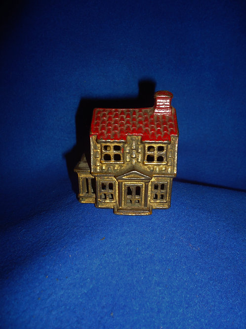 """Cast Iron Still Bank, """"Colonial House with Porch"""" #5528"""