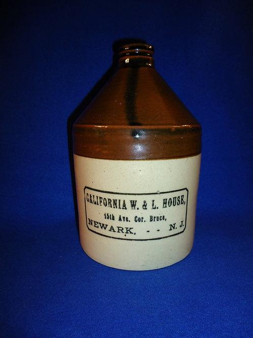 California Wine & LIquor House, Newark, New Jersey 1/2 Gallon Jug, Sherwood