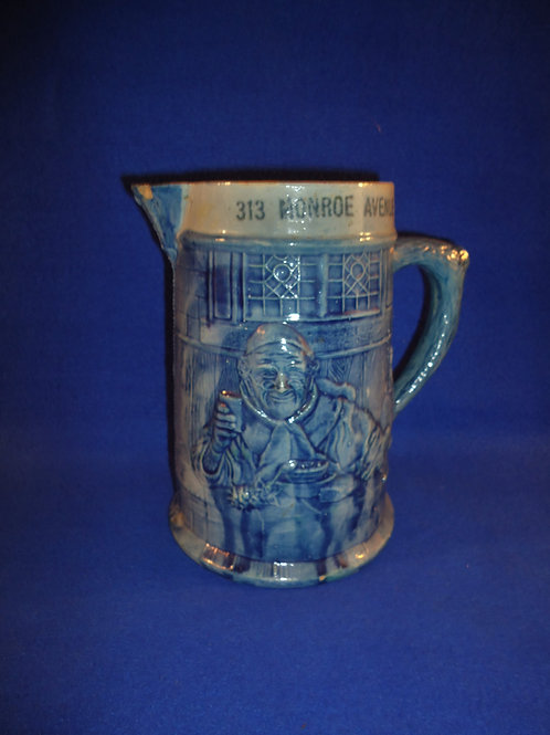 Robinson Clay Products, Akron, Ohio Stoneware Advertising Pitcher #4583