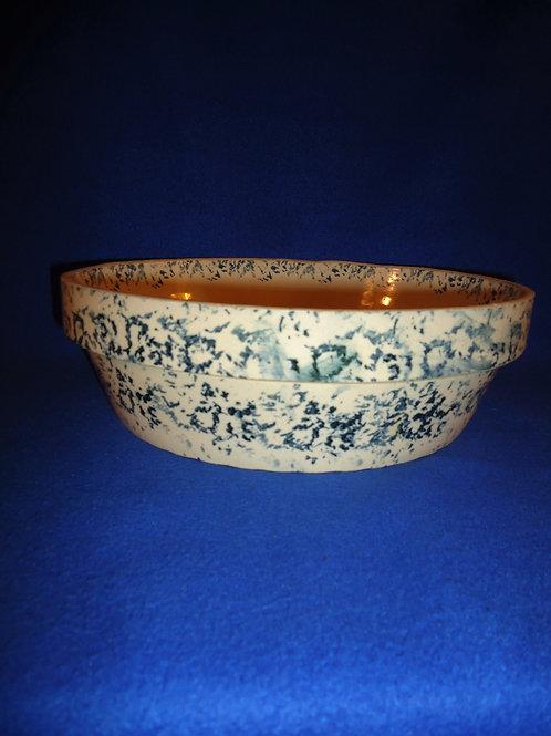 Macomb Stoneware Company Blue and White Spongeware Bowl #4531