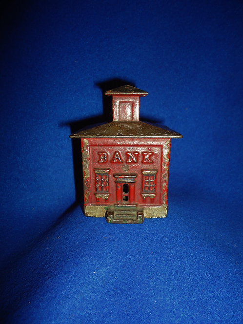 Cast Iron Cupola Bank in Red by J. & E. Stevens, Circa 1872 #5201