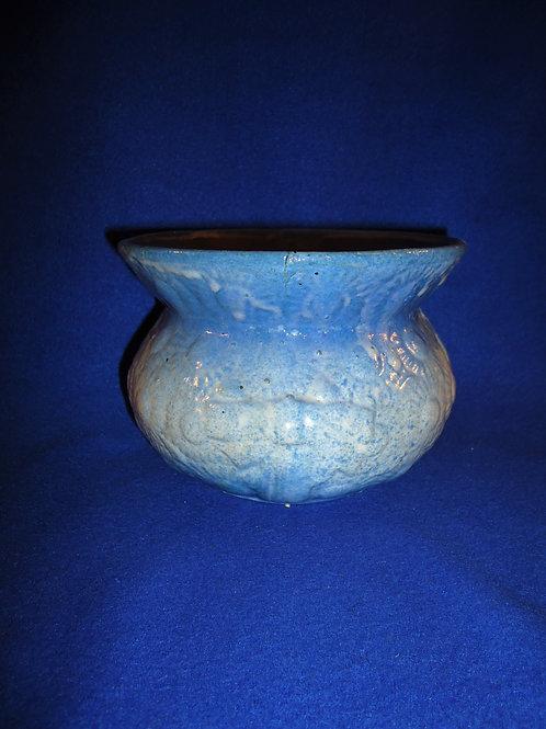 Blue and White Daisy and Ribbon Stoneware Ladies Cuspidor #4537