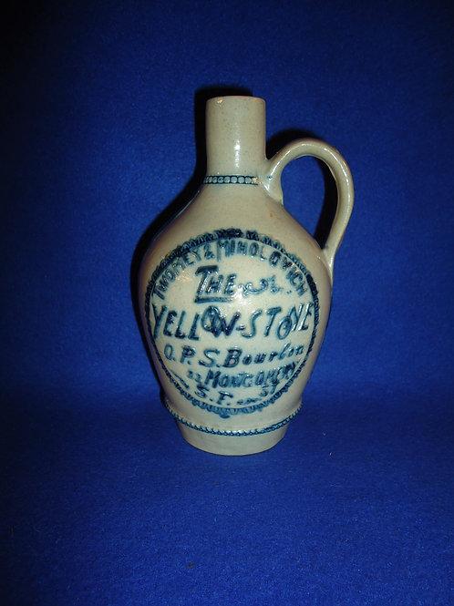 Whites Pottery of Utica, N.Y. Stoneware San Francisco Bourbon Jug #5559