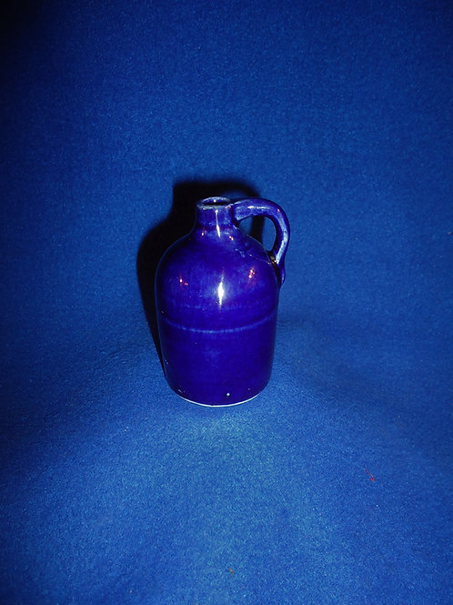 """Circa 1900 3"""" Cobalt Mini Jug #5336"""