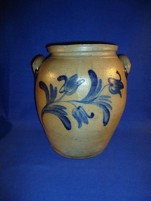 5 Gallon Stoneware Ovoid Jar with Tulips; att. Hamilton & Pershing, #4984