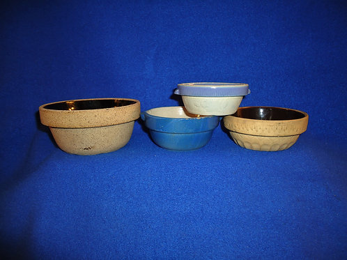 4 Tiny Toy Stoneware Bowls for 1 Money #5360