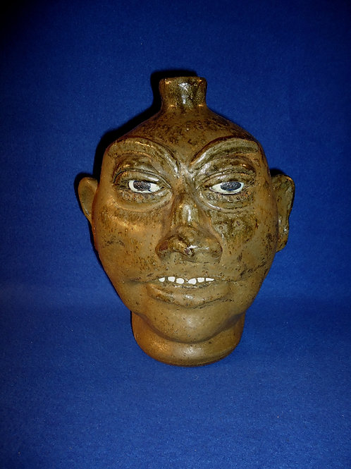 Lanier Meaders, Mossy Creek, Georgia Stoneware Face or Grotesque Jug
