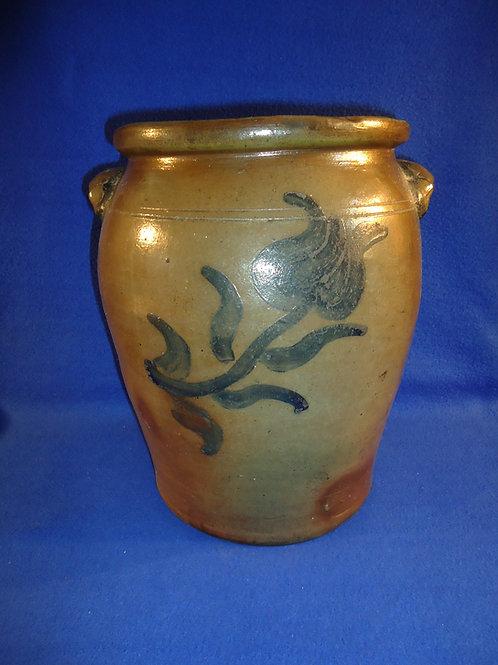 Circa 1860 3 Gallon Stoneware Jar att. John Greenland, Connellsville, PA #5819