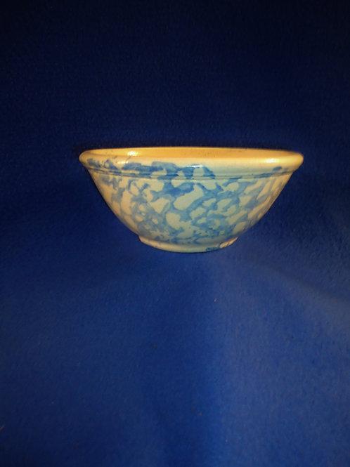 Circa 1900 Small Blue and White Spongeware Stoneware Bowl