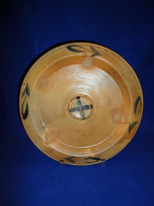 Decorated Stoneware Crock Lid att. Wingender, Haddenfield, New Jersey
