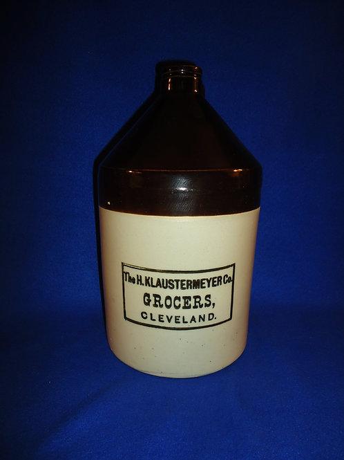 H. Klaustermeyer, Grocer, Cleveland, Ohio Stoneware Jug #5694