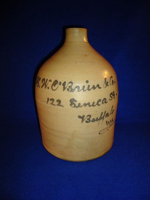H. W. O'Brien, Buffalo, New York Stoneware 1 Gallon Script Jug