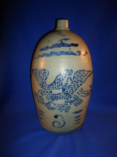 Hamilton and Jones,  Greensboro, Pennsylvania 3 Gallon Star Pottery Eagle Jug
