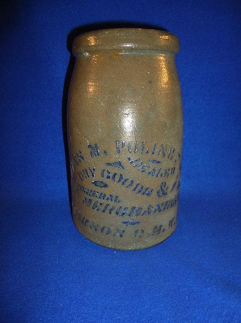 James Poling, Jackson Court House, West Virginia Stoneware Wax Sealer #4727
