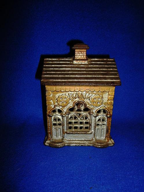 Cast Iron Still Bank, Double Door Bank #5873