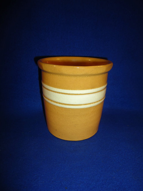 Yellow Ware Beater Jar, Brush McCoy Dandy LIne #5124