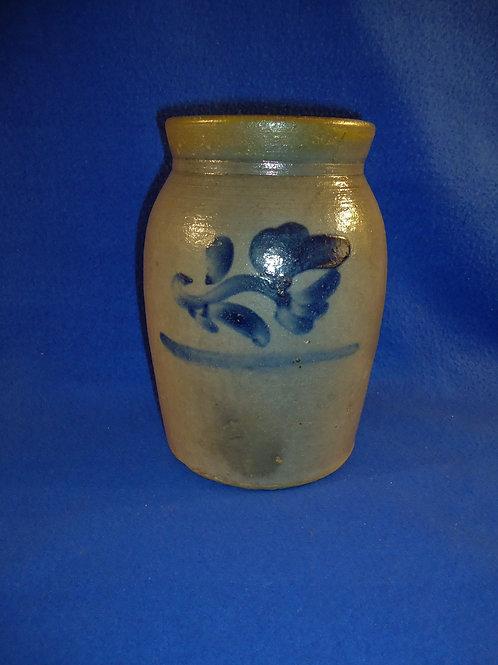 Rare 1/2 Gallon Jar with Tulip from Beaver, Pennsylvania #4696