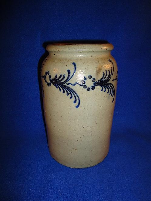 Circa 1820's Stoneware Jar from Baltimore, att. Morgan or Morgan and Amos