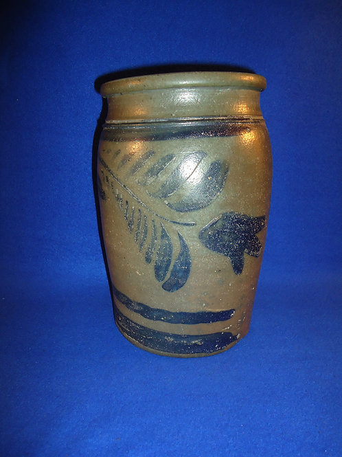 Circa 1865 Stoneware Jar with Freehand Decoration from Southwestern PA #4449