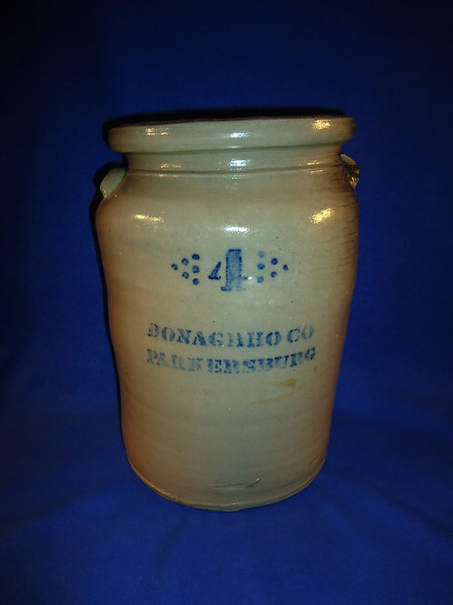 A. P. Donaghho, Parkersburg, West Virginia Stoneware 3 Gallon Jar #5274