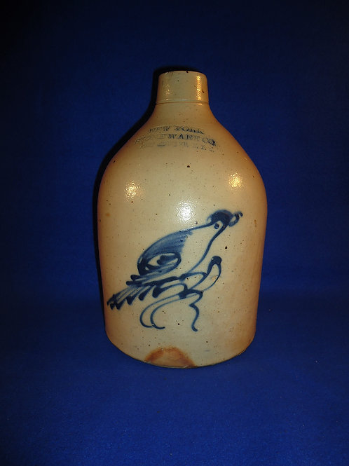 New York Stoneware Company Stoneware 1 Gallon Jug with Bird on a Branch #5103