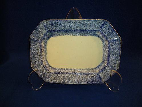 Early 19th Century Blue and White Spatterware Small Octagonal Platter