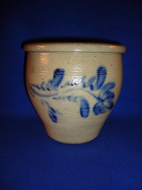 1 Gallon Cream Pot with Fuchsia, att. Shenfelder of Reading, Pennsylvania