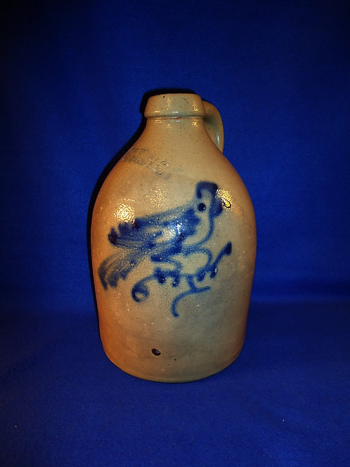 Haxstun, Ottman, Fort Edward, New York 1g Stoneware Jug with Bird on a Branch