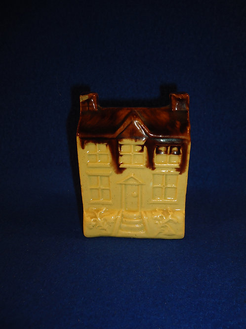 19th Century Yellow Ware Bank in the Form of a House