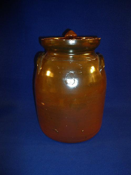West Troy Pottery 6 Quart Lidded Preserve Jar or Tabletop Churn #5018