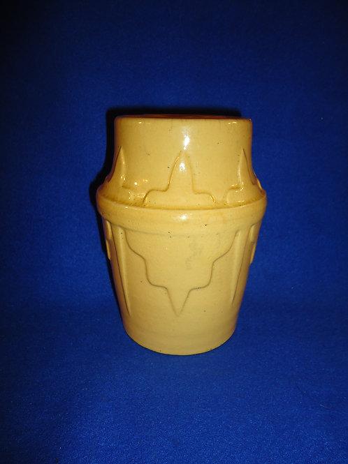 19th Century Yellow Ware Wax Sealer Canning Jar from Ohioi