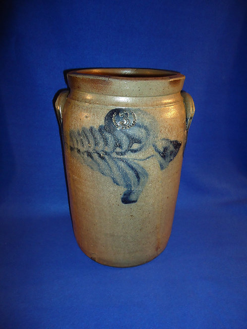 3 Gallon Stoneware Jar, att. David Parr, Richmond, Virginia #5429