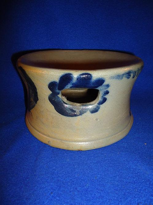 Circa 1860 Pennsylvania Stoneware Decorated Spittoon, Cuspidor