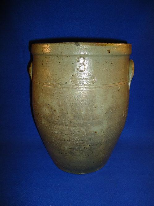 J. Ziegler, Lucas Co., Ohio Stoneware 3 Gallon Ovoid Jar
