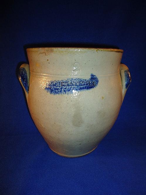 E. H. Merrill, Ohio Stoneware 2 Gallon Ovoid Jar