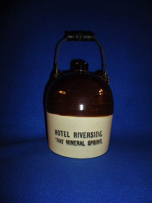 Hotel Riverside, Cambridge Springs, Pennsylvania Stoneware Jug #5202