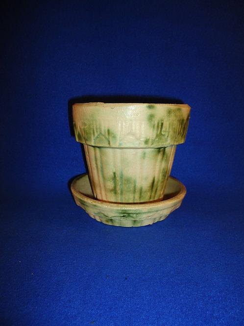 Houghton Pottery, Dalton, Ohio Stoneware Flower Pot, #4973