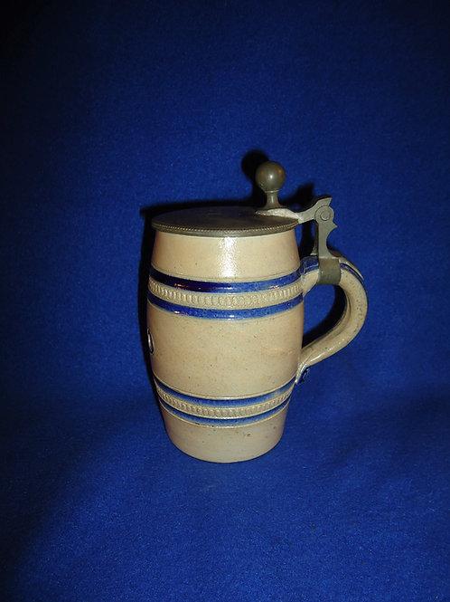 "1860 Stoneware Lidded Stein Inscribed ""A. K."" #5334"
