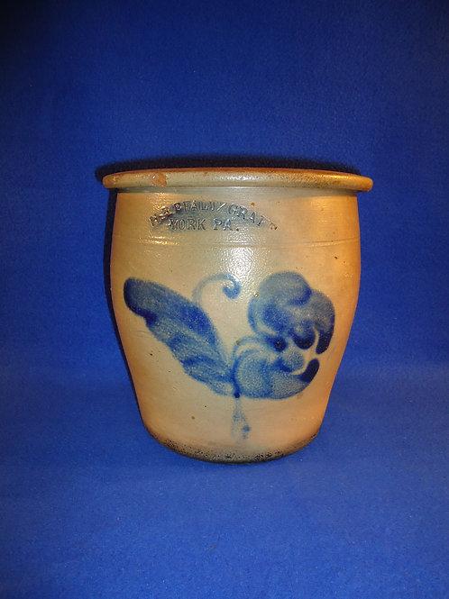 H.B. Pfaltzgraff, York, Pennsylvania Stoneware Cream Pot with Tulip #4551