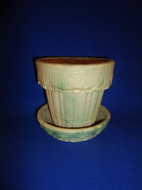 Houghton Pottery, Dalton, Ohio Stoneware Flower Pot, #5029