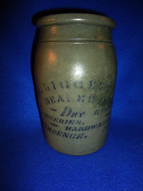 "C. M. Liggett, Independence, Pennsylvania 8"" Stoneware Merchant Jar"